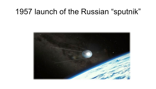 1957 launch of the Russian %22sputnik%22