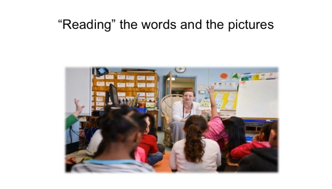 %22reading%22 the words and the pictures