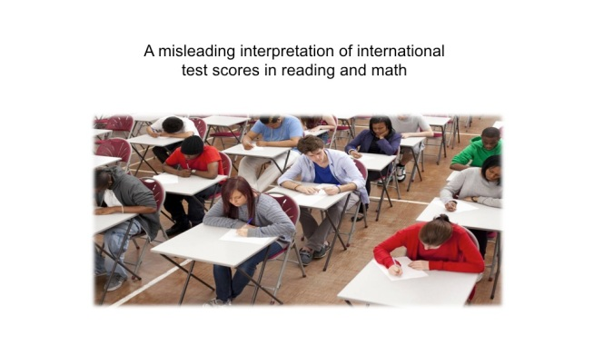 a misleading interpretaion of international test scores in reading a math