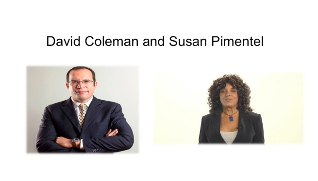 David Coleman and Susan Pimental