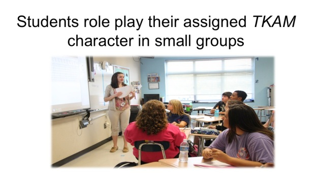 students role-play their assigned character in small groups