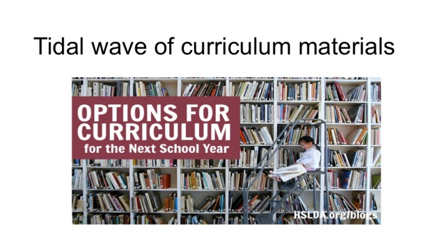 tidal wave of curriculum materials