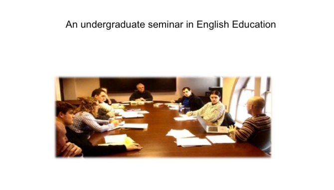 undergraduate seminar in English Education