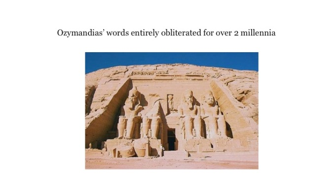 comparison of poems the magpies and ozymandias essay Free essay: ozymandias, king of nothing in ozymandias, percy byshe shelley relates a description of a mysterious land laid to waste as told to a.